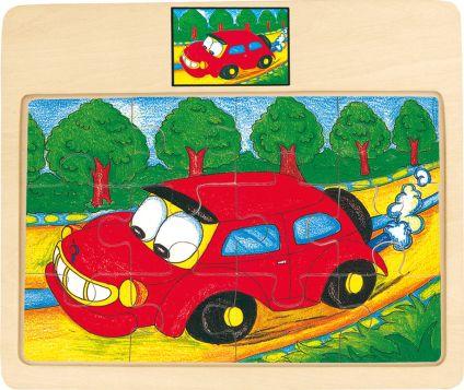 Puzzle na desce, auto Tori
