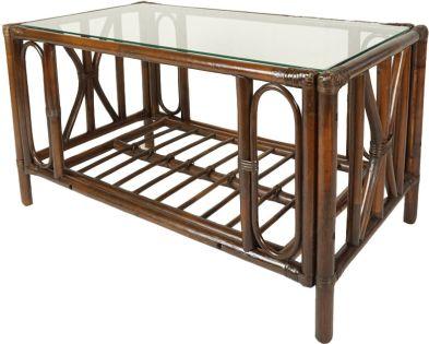 Ratanový obývací stolek UNIVERSAL, tmavý
