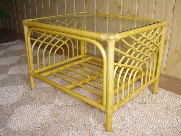 Ratanový obývací stolek VERONA - světlý