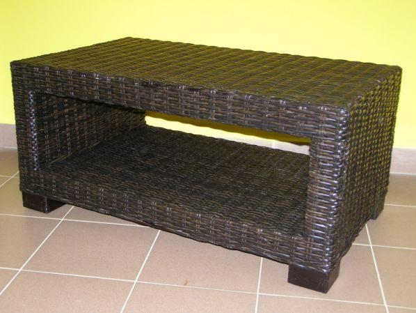 Ratanový stolek Carmona-mahagon
