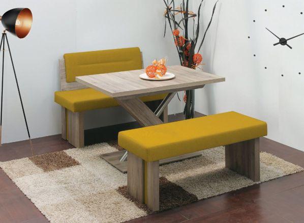Rovná jídelní lavička Duo A