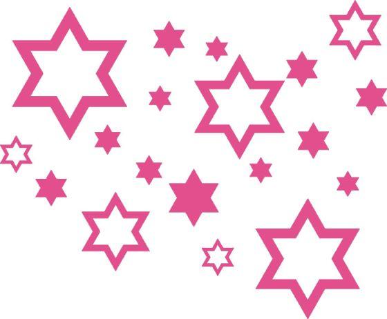 Samolepící dekorace Hvězdy, růžové