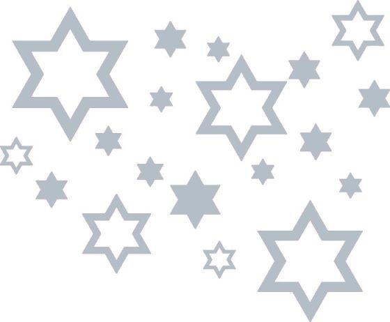 Samolepící dekorace Hvězdy, stříbrné