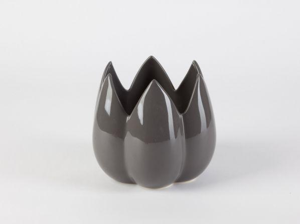 Keramická váza Bud, tmavošedá