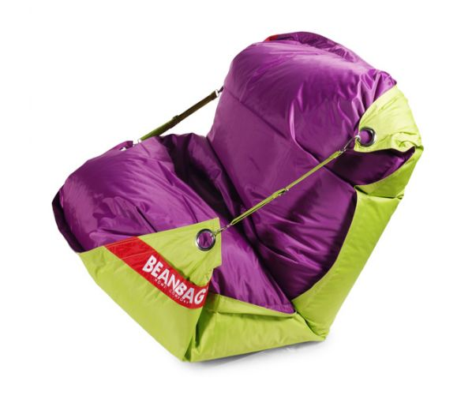Sedací pytel BeanBag duo-limet-purple