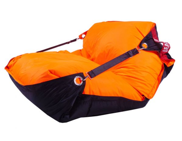 Sedací pytel BeanBag duo-orange-black