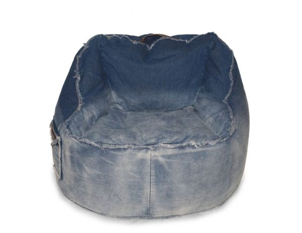 Sedací vak Jeans Chair blue