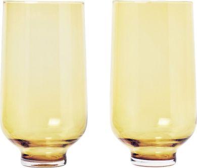 Set 2 ks sklenic - zlatavá