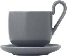 Set 2 šálků na espresso s podšálky - Sharkskin