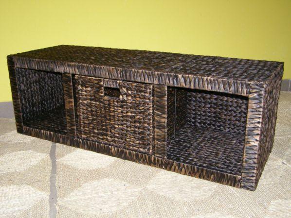 Ratanová skříňka-1 zásuvka-vodní hyacint