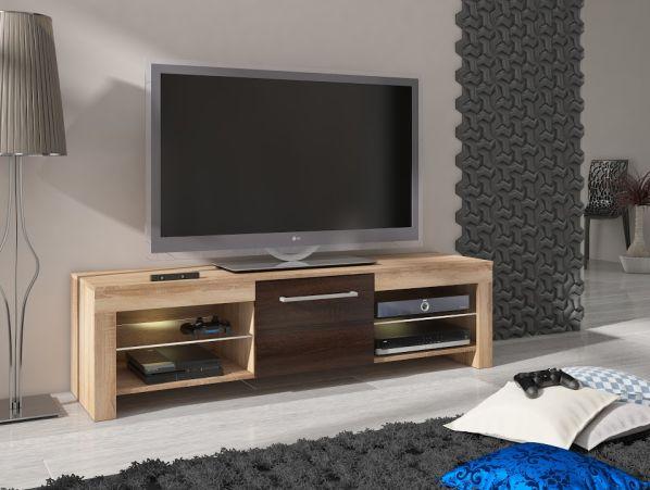TV stolek Flex, wenge - krémová