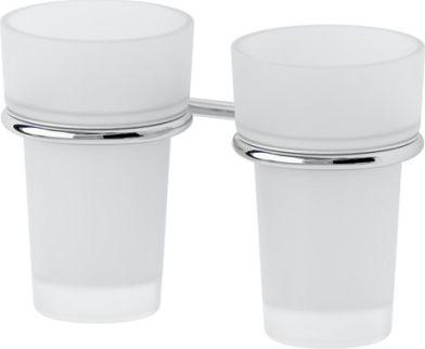 Držák skleničky dvojitý-sklo