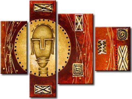 Vícedílné obrazy - Africká hlava