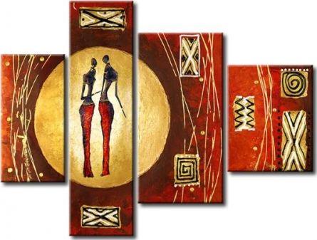 Vícedílné obrazy - Africké postavy