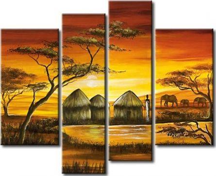 Vícedílné obrazy - Afrika