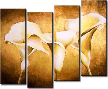 Vícedílné obrazy - Andělské květy