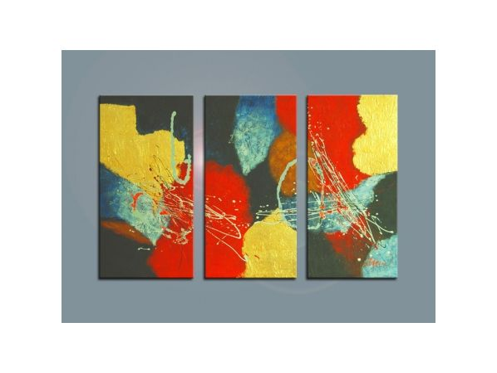Vícedílné obrazy - Barevná abstrakce 1
