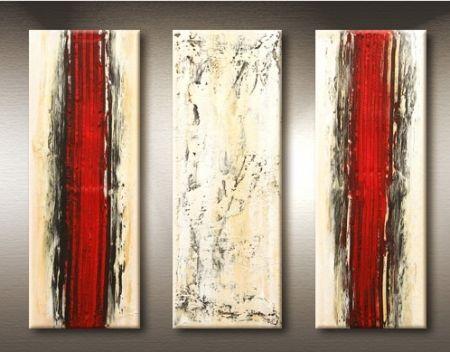 Vícedílné obrazy - Červené koleje