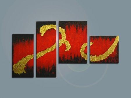 Vícedílné obrazy - Červenou