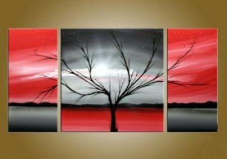 Vícedílné obrazy - Červený strom
