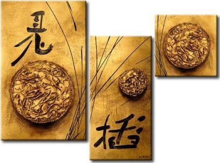 Vícedílné obrazy - Čínské znaky 1