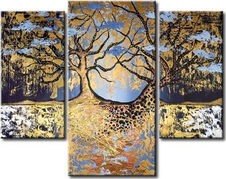 Vícedílné obrazy - Dva stromy