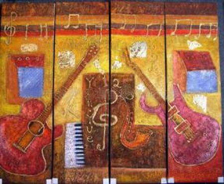 Vícedílné obrazy - Hudební nástroje
