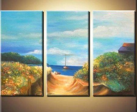 Vícedílné obrazy - K moři