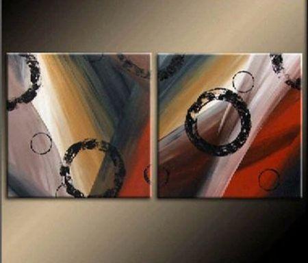 Vícedílné obrazy - Kruhy v duze