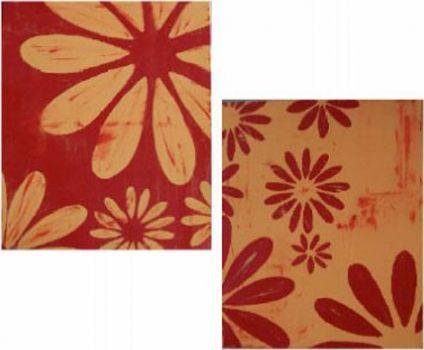 Vícedílné obrazy - Květinové otisky