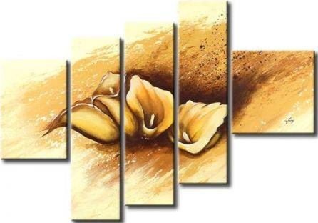 Vícedílné obrazy - Květy kaly
