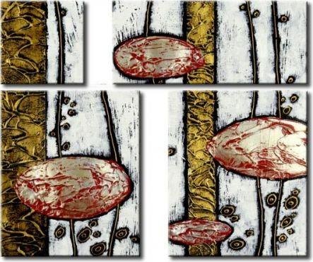 Vícedílné obrazy - Levitující kameny