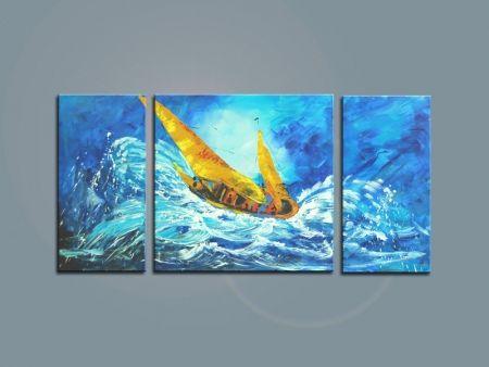 Vícedílné obrazy - Loď v bouři
