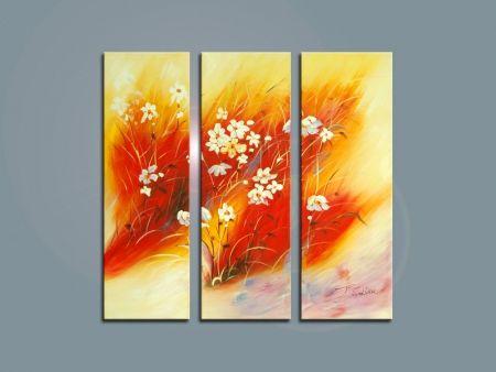 Vícedílné obrazy - Luční květy