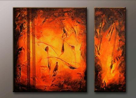 Vícedílné obrazy - Magma