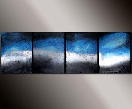 Vícedílné obrazy - Modrá duha