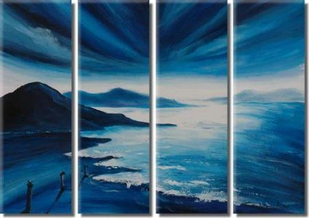 Vícedílné obrazy - Modrá pláž
