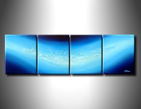 Vícedílné obrazy - Modrá vlna
