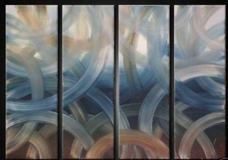 Vícedílné obrazy - Modré kruhy