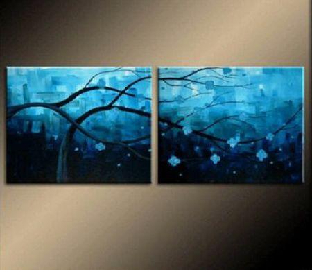 Vícedílné obrazy - Modré větve