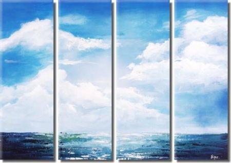 Vícedílné obrazy - Nad mořem