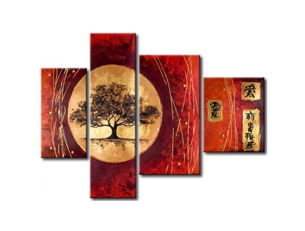 Vícedílné obrazy - Orientální strom