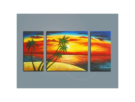 Vícedílné obrazy - Pláž
