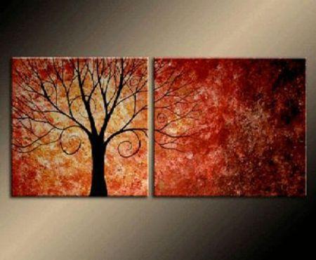 Vícedílné obrazy - Podzimní strom