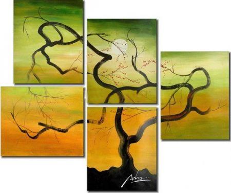 Vícedílné obrazy - Rašící strom