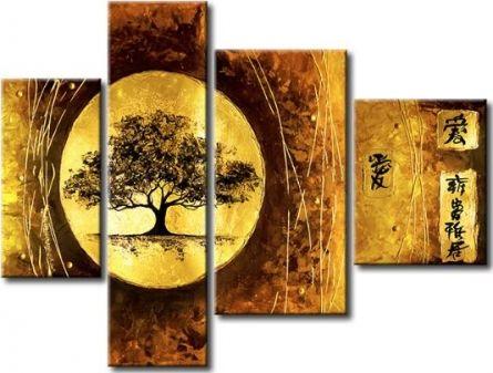 Vícedílné obrazy - Strom v kruhu