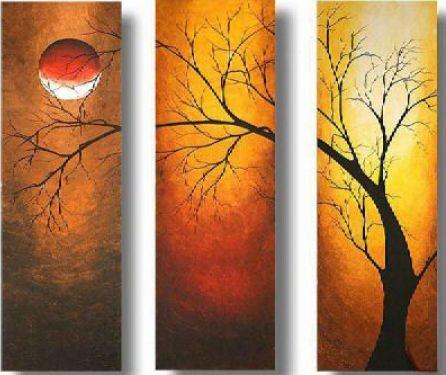 Vícedílné obrazy - Strom v noci