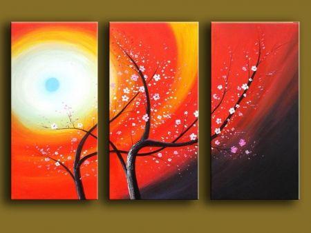 Vícedílné obrazy - Strom v záři