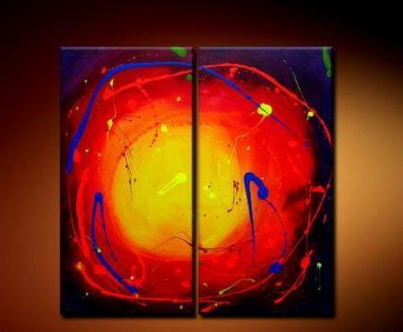 Vícedílné obrazy - Tekoucí slunce