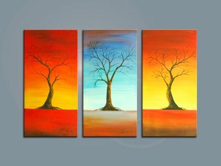 Vícedílné obrazy - Tři stromy